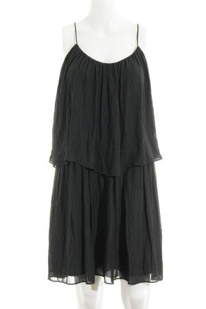 Zara Basic Volantkleid anthrazit schlichter Stil
