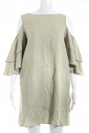 Zara Basic Volantkleid graugrün klassischer Stil
