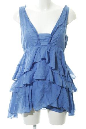Zara Basic Volantkleid kornblumenblau 90ies-Stil
