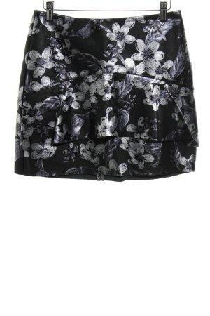 Zara Basic Falda con volantes estampado floral estilo extravagante