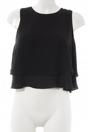 Zara Basic Flounce Top black layered look