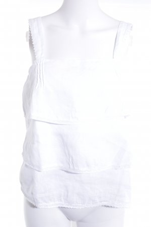 Zara Basic Top con volantes blanco Estilo playero