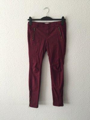 Zara Basic weinrote Jeans 36