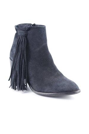 Zara Basic Botines estilo vaquero negro estilo gitano