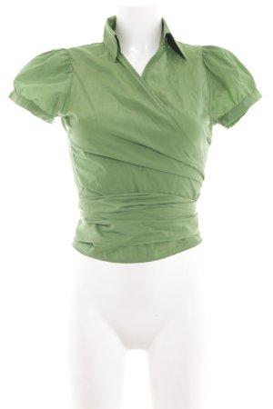 Zara Basic Camicetta aderente verde stile casual
