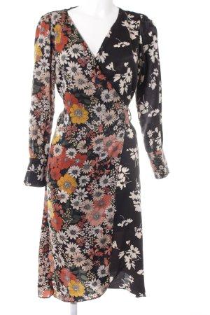 Zara Basic Wickelkleid Blumenmuster Casual-Look