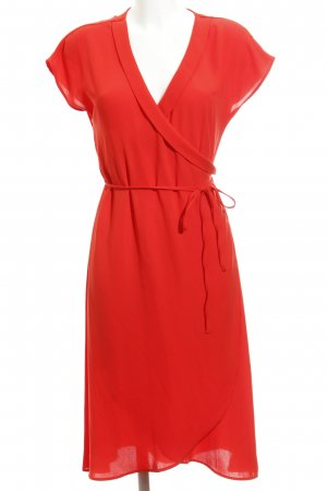 Zara Basic Wickelkleid rot Wickel-Look