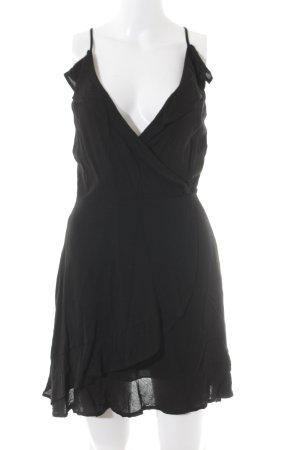 Zara Basic Wickelkleid schwarz Elegant