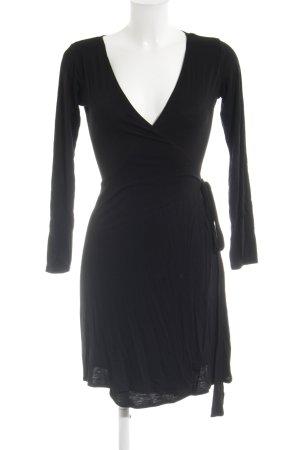 Zara Basic Wickelkleid schwarz schlichter Stil