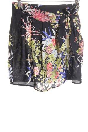 Zara Basic Wickelrock florales Muster Casual-Look