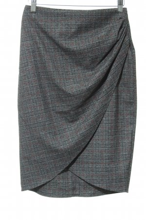 Zara Basic Wraparound Skirt grey check pattern casual look