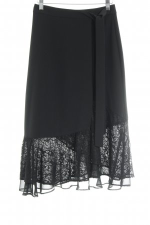 Zara Basic Wraparound Skirt black elegant