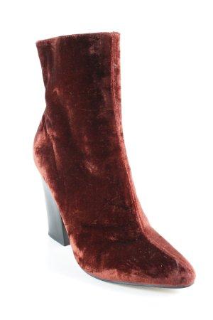Zara Basic Winter-Stiefeletten karminrot