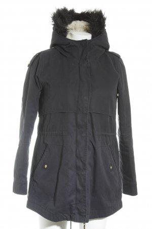 Zara Basic Winterjacke dunkelblau Casual-Look