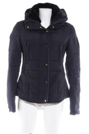 Zara Basic Veste d'hiver bleu foncé style décontracté