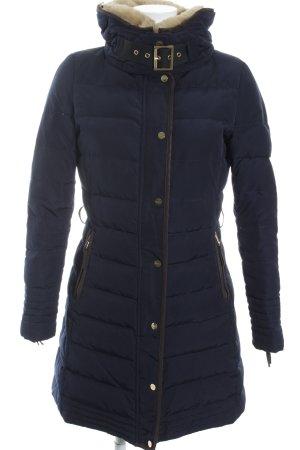 Zara Basic Winterjacke dunkelblau klassischer Stil