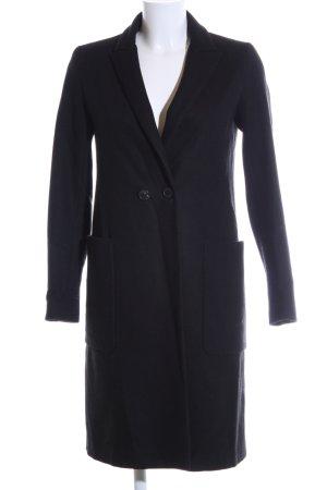 Zara Basic Winterjas blauw zakelijke stijl