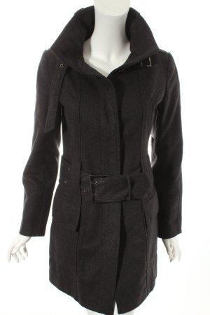 Zara Basic Wintermantel dunkelgrau klassischer Stil