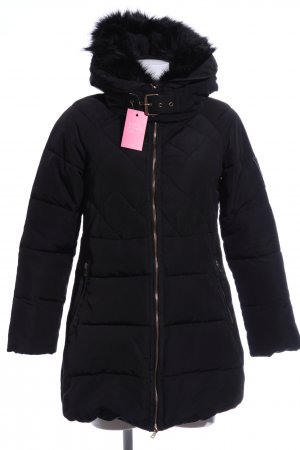 Zara Basic Wintermantel schwarz Steppmuster Casual-Look