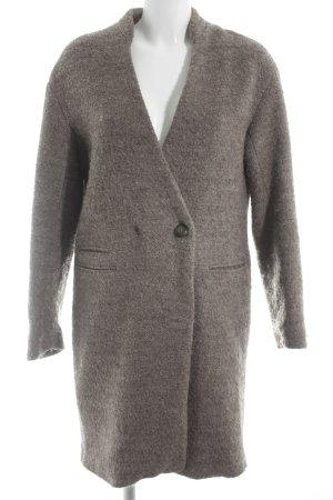 Zara Basic Wintermantel graubraun klassischer Stil