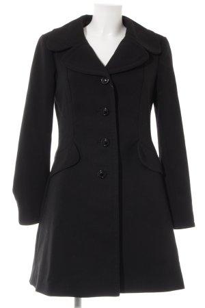 Zara Basic Manteau d'hiver noir style décontracté