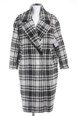 Zara Basic Wintermantel weiß-schwarz Hahnentrittmuster klassischer Stil