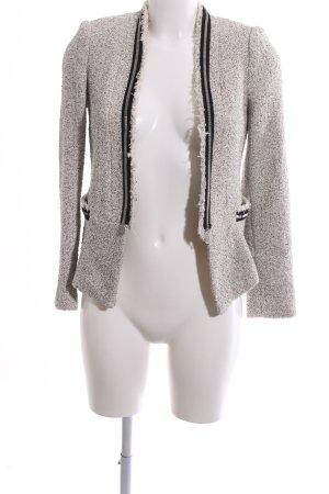 Zara Basic Blazer en laine gris clair-noir imprimé allover style décontracté