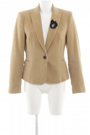 Zara Basic Woll-Blazer nude Business-Look