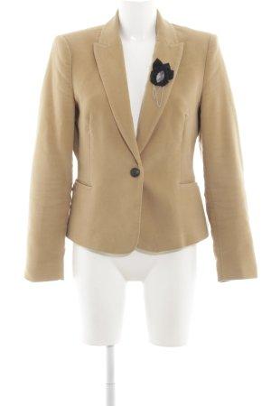Zara Basic Wool Blazer nude business style