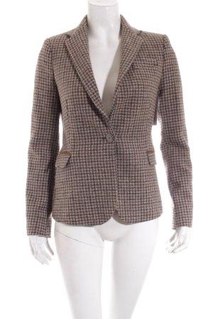 Zara Basic Woll-Blazer braun-grau Karomuster Casual-Look