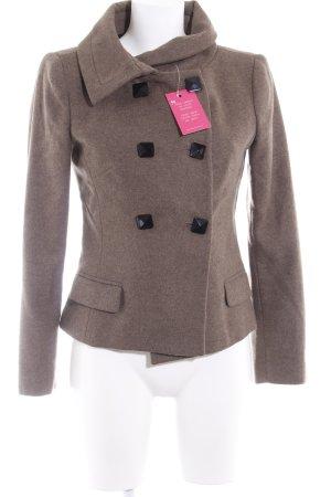 Zara Basic Woll-Blazer graubraun-hellbraun meliert Casual-Look