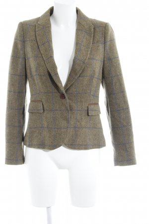 Zara Basic Woll-Blazer Karomuster Business-Look