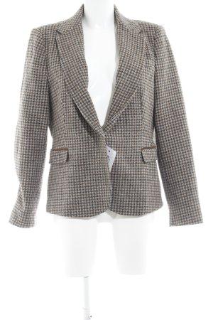 Zara Basic Woll-Blazer Karomuster klassischer Stil