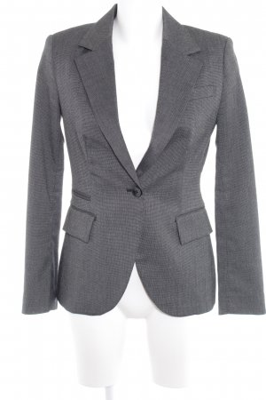 Zara Basic Woll-Blazer schwarz-grau Business-Look