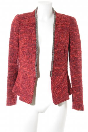 Zara Basic Wool Blazer black-red flecked Brit look