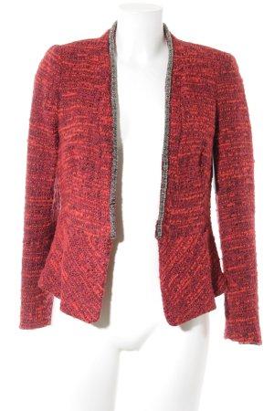 Zara Basic Woll-Blazer schwarz-rot meliert Brit-Look