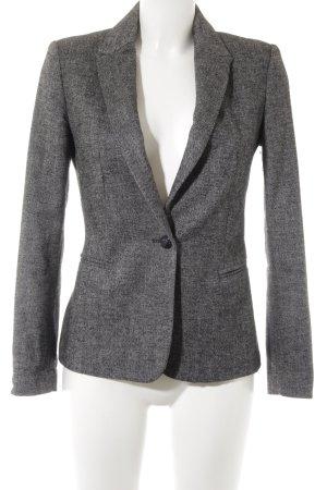 Zara Basic Woll-Blazer schwarz-weiß Hahnentrittmuster Business-Look