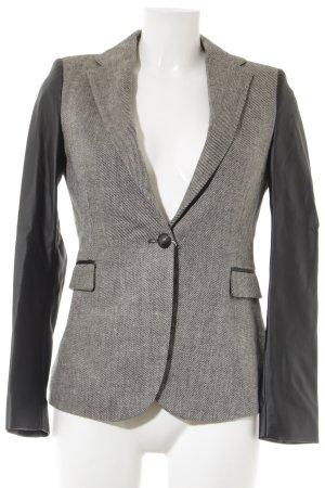 Zara Basic Woll-Blazer schwarz-weiß Streifenmuster Business-Look