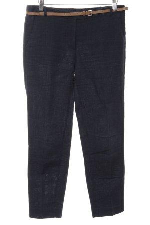 Zara Basic Pantalon en laine noir moucheté style décontracté