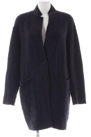Zara Basic Wolljacke dunkelblau Casual-Look
