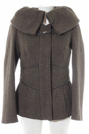 Zara Basic Wool Jacket light brown-black casual look