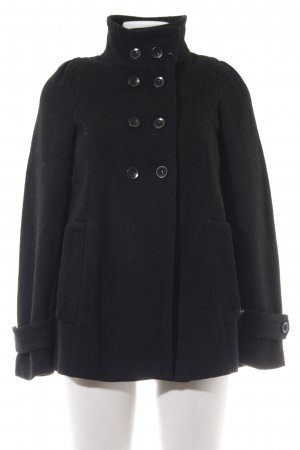 Zara Basic Wolljacke schwarz Casual-Look