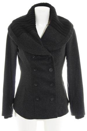 Zara Basic Wolljacke schwarz meliert Casual-Look