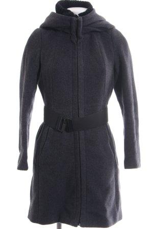 Zara Basic Wollmantel hellgrau meliert Elegant