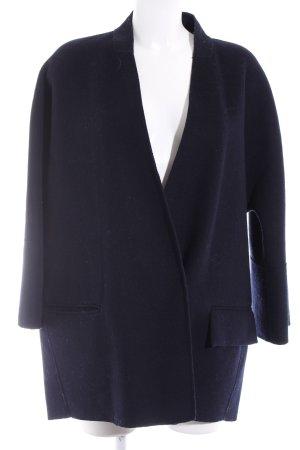 Zara Basic Wollmantel dunkelblau Business-Look