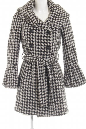 Zara Basic Wollen jas zwart-wit geruite print elegant