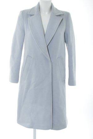 Zara Basic Cappotto in lana grigio chiaro stile casual