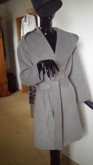 Zara Basic Manteau à capuche gris clair