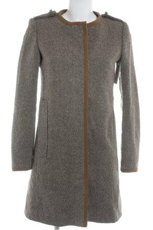 Zara Basic Wool Coat flecked casual look