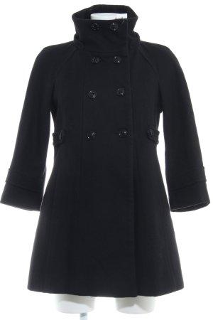 Zara Basic Wollmantel schwarz klassischer Stil
